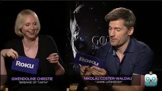We caught up with the cast of Game of Thrones in Los Angeles to get the inside scoop on season 7. As you'd expect their lips are ...