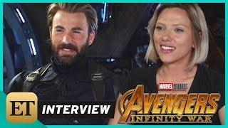 Video 'Avengers: Infinity War': Scarlett Johansson and Chris Evans (FULL INTERVIEW) MP3, 3GP, MP4, WEBM, AVI, FLV Maret 2018