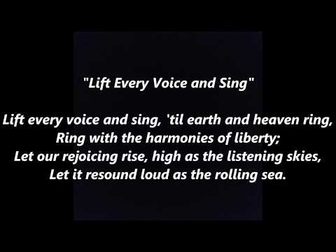 Lift Every Voice and Sing #AfricanAmerican #BlackHistory Civil Rights National Anthem lyrics words