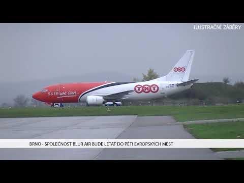TV Brno 1: 15.12.2017 Společnost Blur air bude létat do pěti evropských měst