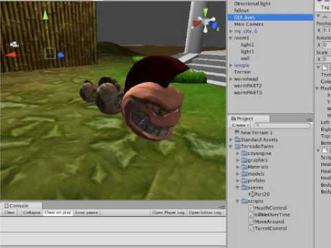 #21 Taking body-parts off your character [Unity3d Game Engine tutorial] (TornadoTwins)