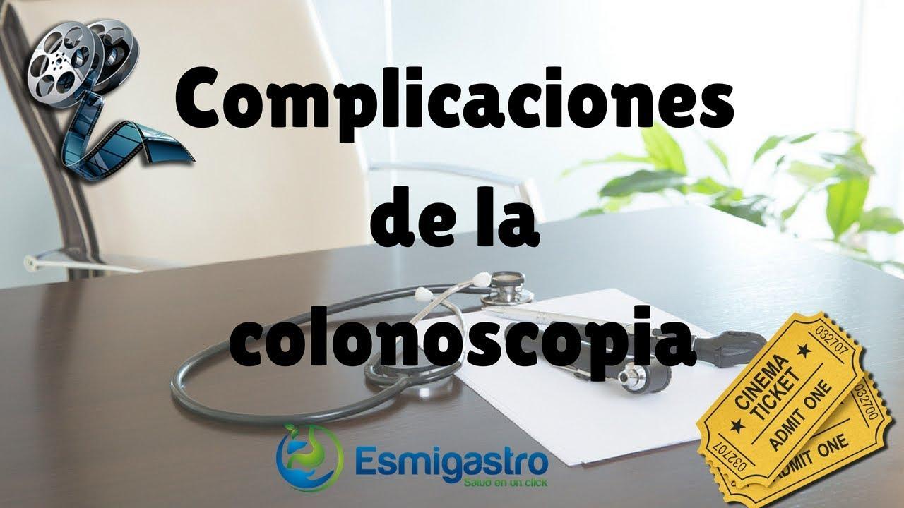 Complicaciones de la colonoscopia