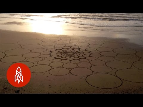 Creating Beautifully Intricate Designs on the Beach