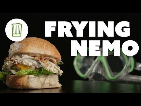 Frying Nemo: leckerer Fisch-Burger mit Seelachs und Sardellen