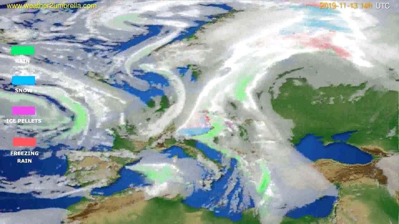 Precipitation forecast Europe // modelrun: 12h UTC 2019-11-11