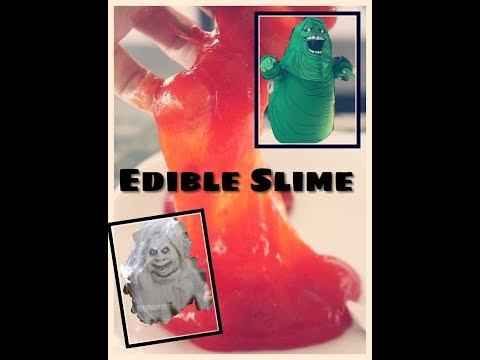 How To Make Edible Slime With Glitter- Ghostbuster Themed Slime