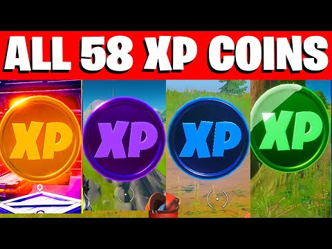 All 58 XP COINS LOCATIONS IN FORTNITE SEASON 4 Chapter 2 (WEEK 1-6)