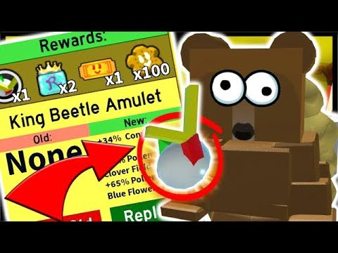 Rare King Beetle Amulet Star Egg Gifted Bee Roblox Bee