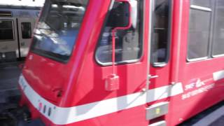 Vallorcine France  City pictures : MONT-BLANC EXPRESS TRAIN VALLORCINE STATION HAUTE-SAVOIE FRANCE