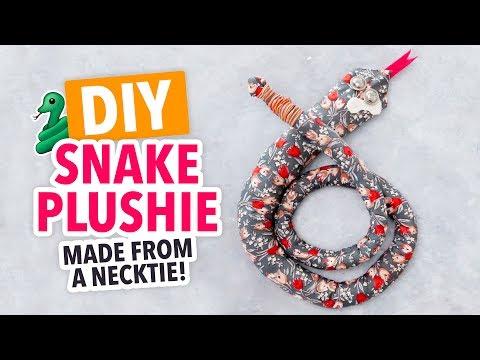 DIY Snake Plushie made from a Necktie! - HGTV Handmade