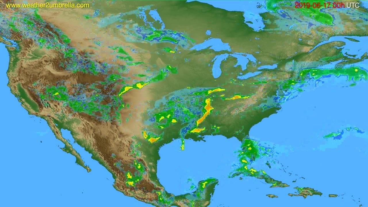 Radar forecast USA & Canada // modelrun: 12h UTC 2019-06-16