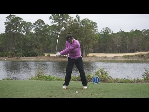 GERINA PILLER – FACE ON DRIVER SWING REGULAR & SLOW MOTION TIBURON GOLF COURSE 2014 CME 1080p HD