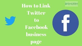How to link twitter to facebook business page Tutorial