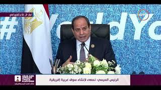 الرئيس السيسي : نسعى لإنشاء سوق عربية إفريقية - تغطية خاصة