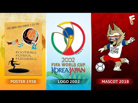FIFA World Cup Logos, Posters And Mascots Through The Years 1930 - 2018 ⚽ Footchampion