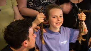 Josh Scott-Hill, of the UK, said he was motivated to do something when he ran into his mom's friend in the grocery store and noticed she didn't have any hair. The 11-year-old boy grew his hair for more than a year in support of his mom's friend who had cancer. Josh began an 18-month journey to grow 10 inches of hair, but he said it wasn't always easy. InsideEdition.com's Keleigh Nealon (https://twitter.com/KeleighNealon) has more.
