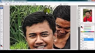 Tutorial Tracing Foto Line Art Menggunakan Pen Tool di Photoshop CS3.