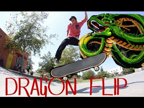 flip - Subscribe if you don't hate my channel :) http://www.youtube.com/ChristopherChann I did not invent this trick, I just called it the Dragon Flip just for my c...