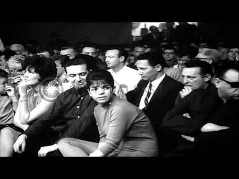 Boxers participate in amateur bouts during the Golden Gloves championships in New...HD Stock Footage