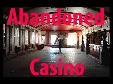 Exploring A Creepy Abandoned Casino and Ballroom with Freaky statues