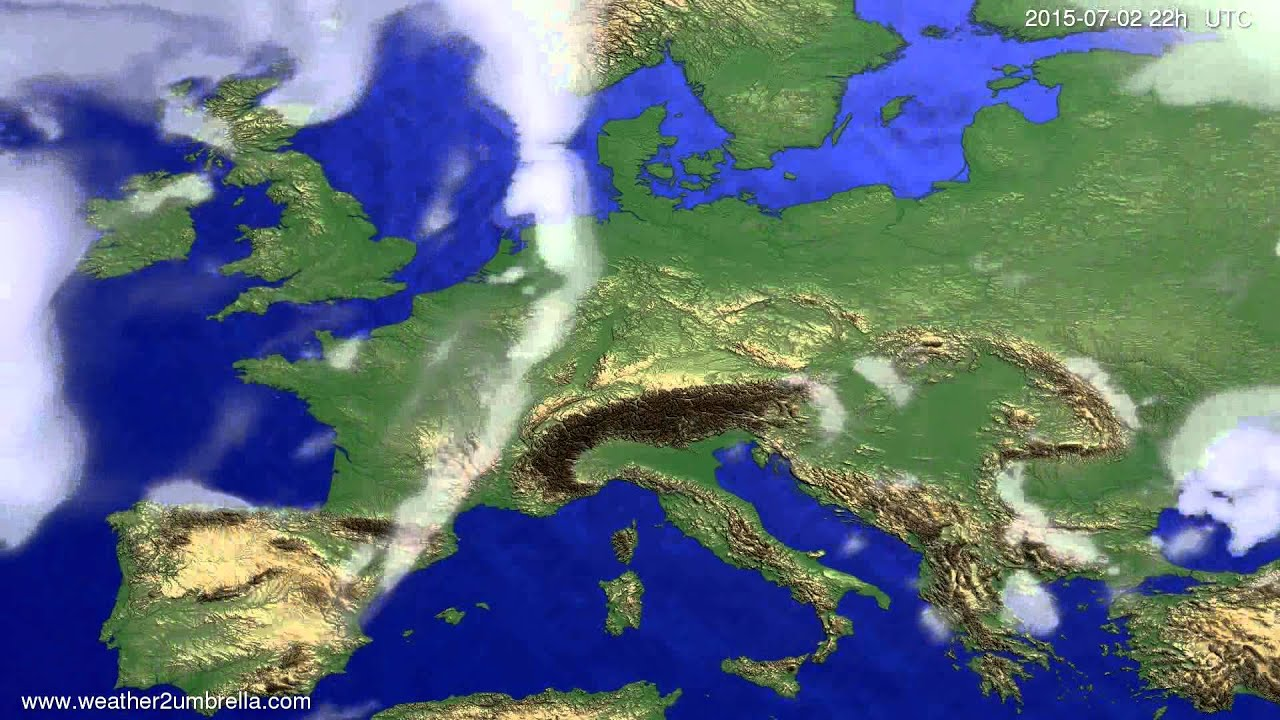 Cloud forecast Europe 2015-06-29