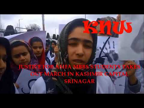 JUSTICE FOR ASIFA MBBS STUDENTS TAKE OUT MARCH