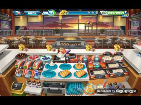 Cooking Fever: Sunset Waffles Level 29, Automated Cooking Machine - Waffle Maker Purchase, Level 30