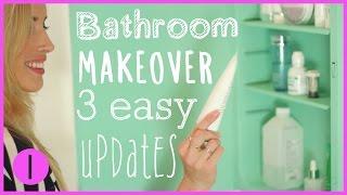 HOW TO: DIY BATHROOM MAKEOVER 1 | Eliminate Common Bathroom Eyesores