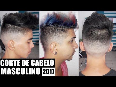 CORTE DE CABELO MASCULINO 2017 COMO FAZER -  FADE COM TOPETE / FRANJA