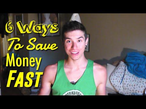 6 Ways To Save Money Fast