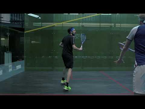 Squash tips: The correct backhand return of serve starting position with Jethro Binns
