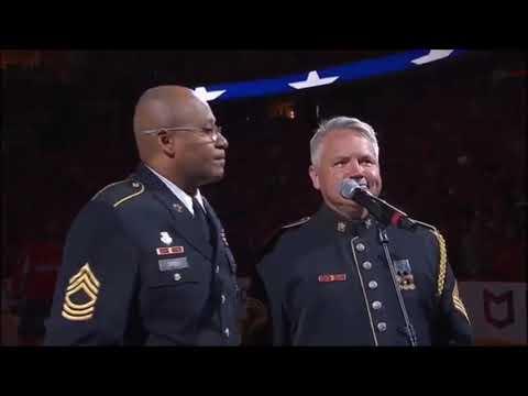 Washington Capitals Vs. Tampa Bay Lightning national anthem 2018 Stanley Cup Playoffs