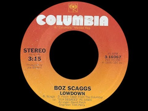 Boz Scaggs ~ Lowdown 1976 Disco Purrfection Version