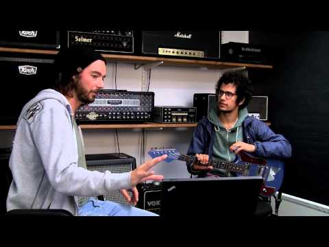 """Omar  Rodríguez-López (Mars Volta) and Tore Mogensen from TC Electronic creates """"Baby Limonade"""" TonePrint for Flashback Delay and Flashback X4."""