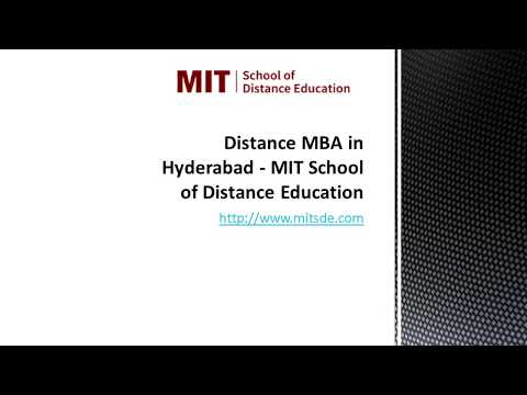Distance MBA in Hyderabad   MIT School of Distance Education