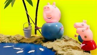 Свинка Пеппа с семьей едет на пикник Мультики для детей про Свинку Пеппу stop motion