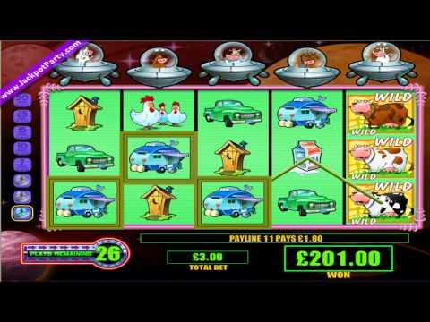 £882 MEGA BIG WIN (294 X STAKE) INVADERS OF THE PLANET MOOLAH™ - BIG WIN SLOTS AT JACKPOT PARTY