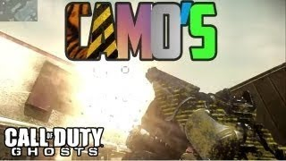 Call Of Duty: Ghosts ALL Weapon Camos - Custom Camo, Silver, Wasp, Pink, Tribal, Lizard, Ghost, Gold