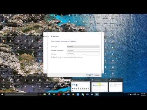 Add network printer on Windows 10