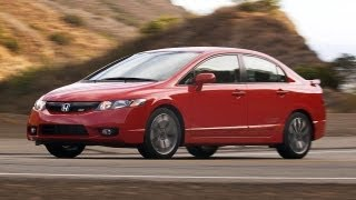 2009 Honda Civic Si Sedan Rallye Red POV Test Drive