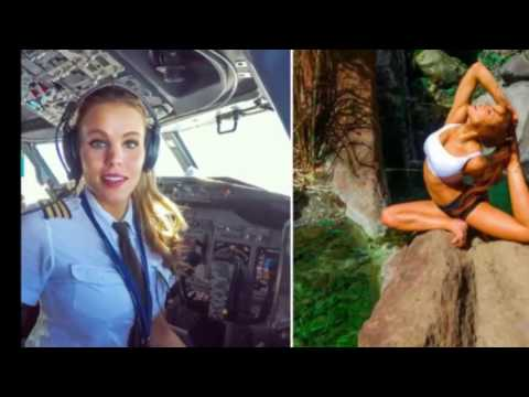 This Sexy Pilot With The Hottest Instagram Ever Will Help Your Fear Of Flying (видео)