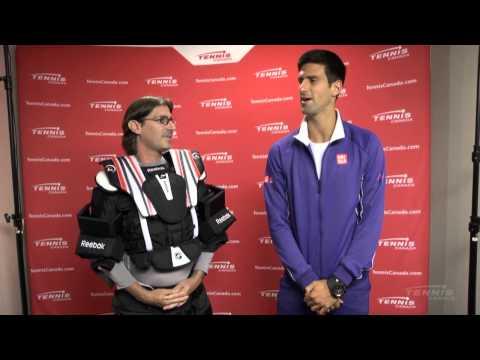 Coupe Rogers 2013: Capsule de Jean-René Dufort avec Novak Djokovic.