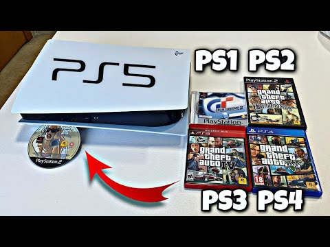 PS5   WORKS PS4, PS3, PS2 and PS1 GAMES?