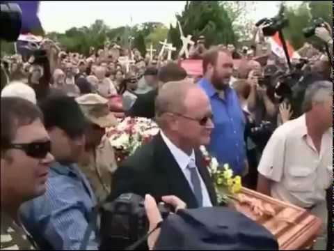 R. Lee Ermey Funeral - Open Casket