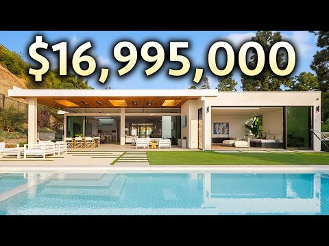 INSIDE a $16,995,000 BEVERLY HILLS Modern Mansion with Incredible Views!