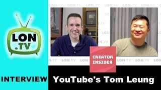 """Tom Leung is a Director of Product Management at YouTube. He works on the tools that YouTube creators use to interact with the platform. In an effort to better communicate with creators he and some colleagues at YouTube started up their own experimental YouTube channel called """"Creator Insider"""" that addresses some creator questions in an informal and conversational way. Index is below. Subscribe for more! http://lon.tv/sVIDEO INDEX:00:50 - Origins of Creator Insider03:05 - What he's learning building a channel from scratch06:08 - What Tom does at YouTube08:02 - Managing relationships with YouTube creators12:02 - What is Tom learning from running his own channel?15:15 - How Tom is soliciting feedback from Creators17:57 - Convincing YouTube management to start the channel22:00 - Advice for new creators26:34 - YouTube as a personality driven medium28:36 - What's next for Creator Insider?30:00 - The official YouTube Creator channel https://goo.gl/SPEX2kCreator Insider is hosted by Tom. In his """"Tom's Take"""" episodes he talks about how changes to YouTube will impact creators (like the recent advertising changes). He also welcomes on many other YouTube employees to talk about what they do and offer tips for creators to improve their channels. Check out Creator Insider at https://youtube.com/creatorinsiderAn audio version of this can be found on my podcast feed at http://lon.tv/podcast or in your favorite podcatcher.Subscribe to my email list to get a weekly digest of upcoming videos! - http://lon.tv/emailSee my second channel for supplementary content : http://lon.tv/extrasVisit the Lon.TV store to purchase some of my previously reviewed items! http://lon.tv/storeRead more about my transparency and disclaimers: http://lon.tv/disclosuresWant to chat with other fans of the channel? Visit our forums! http://lon.tv/forumsWant to help the channel? Start a Patreon subscription!http://lon.tv/patreonor donate to my Tip Jar! http://lon.tv/tipjaror contribute via Venmo!lon@lon.tvFollo"""