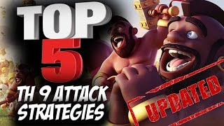 Find out the Top 5 Best TH9 3 Star Attack Strategies that War Clans are using in Clash of Clans. Earn Free Gems: http://bit.ly/wickedgems Chat to me by downl...