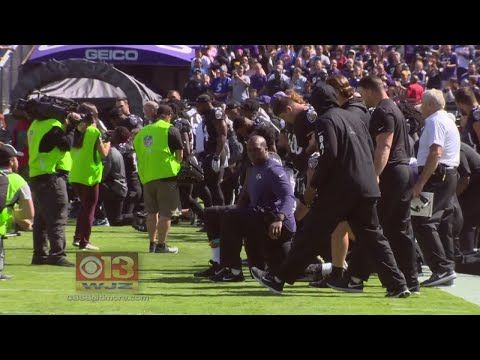 Ravens Booed, Kneel Before, Stand During Anthem