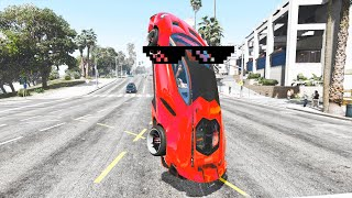 GTA 5 STUNTS & Wins, Fails Compilation (GTA 5 Epic Moments, Thug Life)