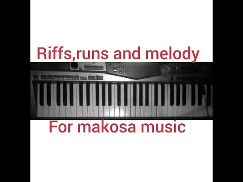 Makosa Progression With Riffs And Run On The Piano.